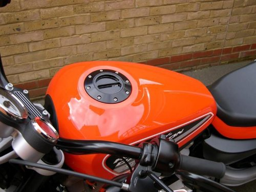 Harley Davidson XR1200 Billet Aluminum Keyless Gas Fuel Petrol Lid Cap in Black