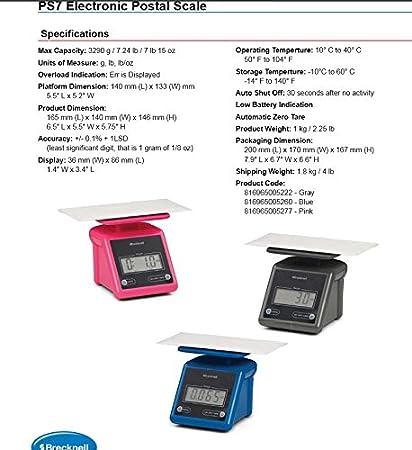 387a6e518439 Amazon.com: Brecknell PS7 Electronic Portable Postal Scale 7 lb x ...