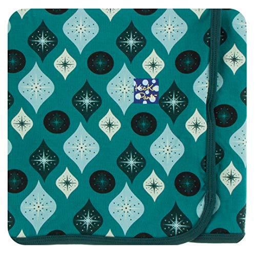 Kickee Pants Print Swaddling Blanket (one Size, Cedar Vintage Ornaments) (Crib Cedar)