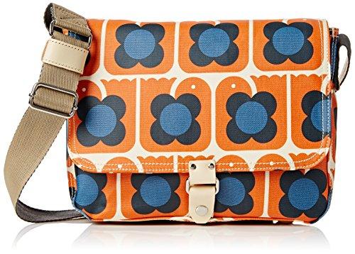 Orla Kiely Love Birds Print Small Satchel - Maletin Mujer Orange (Persimmon)