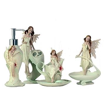 BKPH Cuarto de baño de la decoración del ángel de Cuatro Piezas Set de Lavado de