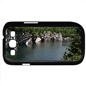 grottos on a lake (Lakes Series) Watercolor style - Case Cover For Samsung Galaxy S3 i9300 (Black)