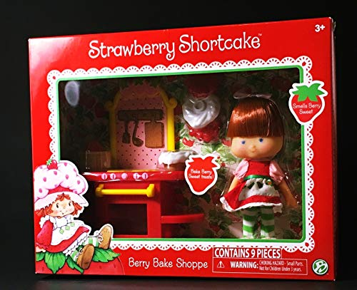 HappyPierrot VTG Strawberry Shortcake Doll Berry 9 Piece Bake Shop, Classic 80 Retro New for Ages 3+