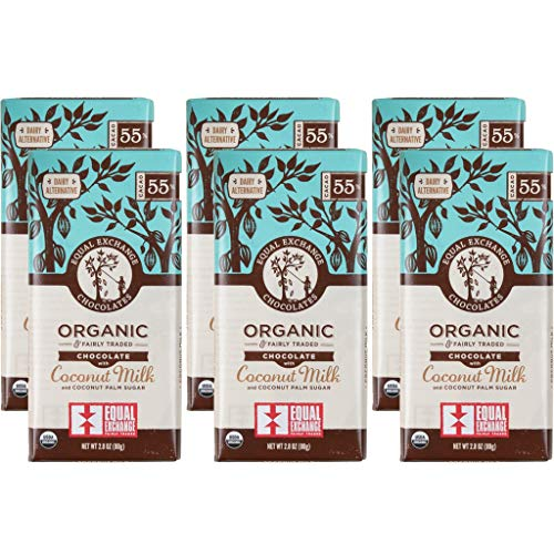 Equal Exchange Organic Chocolate with Coconut Milk (55% Cacao) - 80 Equal Exchange