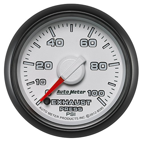 Auto Meter (8595) Dodge Match 2-1/16'' 0-100 PSI Full Sweep Electric Exhaust Pressure Gauge by Auto Meter