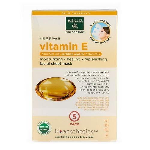 Earth Therapeutics 5-pk. Vitamin E Face Masks