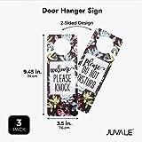 3 Pack Do Not Disturb Door Hanger Sign, Welcome