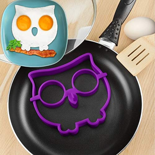 New Breakfast Silicone Cloud Frog Owl Fried Egg Omelette Mold Pancake Ring Shaper Cooking Tool Creative Kitchen Accessories ()
