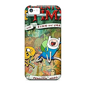 Colorful phone back shell Cases Covers For Iphone Durability iphone 5s - adventure time