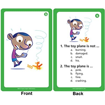 Super Duper Publications Comprehending Negation in Sentences Card Flash Deck Educational Learning Resource for Children: Toys & Games