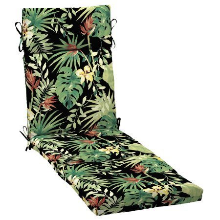 Better Homes and Gardens.. Outdoor Patio Chaise Lounge Cushion (Aruba Palm)