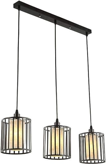 E27 Lámpara colgante Lámpara colgante de 3 lámparas mesa de ...