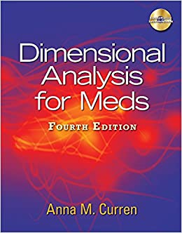Book Dimensional Analysis for Meds (Book Only)