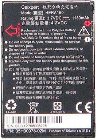 NEW OEM HTC HERA160 BATTERY 35H00078-02M WING HERALD P4350 DOPOD C800 C858 O2 XDA TERRA VODAFONE VPA COMPACT (Oem Htc Wing)