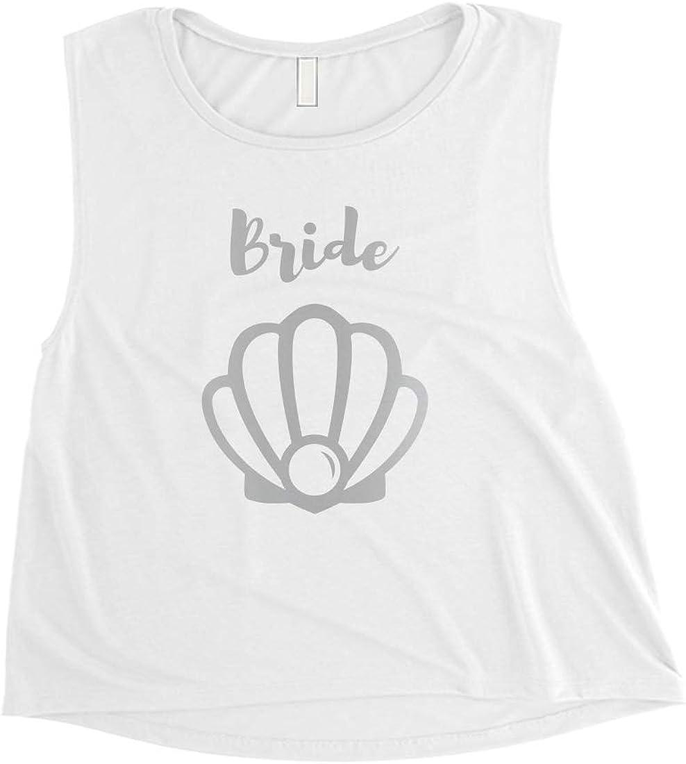 365 Printing Bride Mermaid - Camiseta de Manga Corta para Mujer, Color Plateado: Amazon.es: Ropa y accesorios