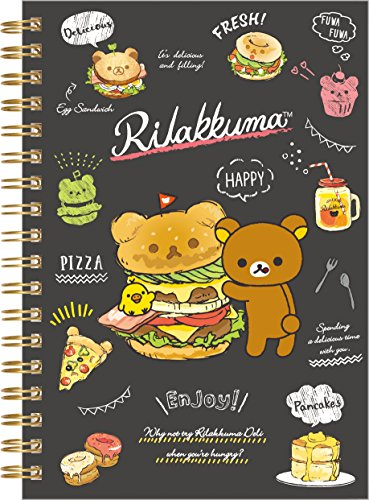 San-X Rilakkuma ring type B6 size notebook NY16101, RilakkumaDeli Black (Rilakkuma School Supplies)