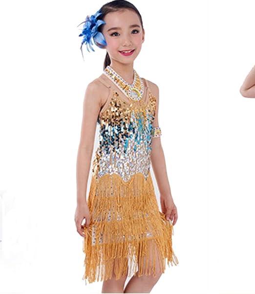 SMACO Disfraz De Baile para Niños Vestidos para Niñas Faldas ...