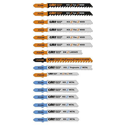 CMT JT016 Assorted Set of Jig Saw Blade set, T-shank (16 Piece)