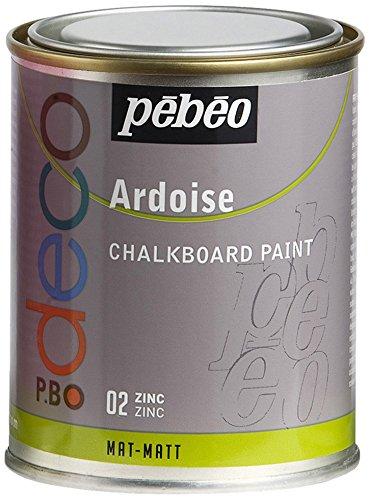 Pebeo - Pintura efecto pizarra, color zinc, 250 ml 093502