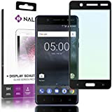 NALIA Screen Protector compatible with Nokia 5, 9H Full-Cover Tempered Glass Smart-Phone Protective Display Film, Durable LCD SaverProtection Armor Foil, Shatter-Proof Front - Transparent (Black)