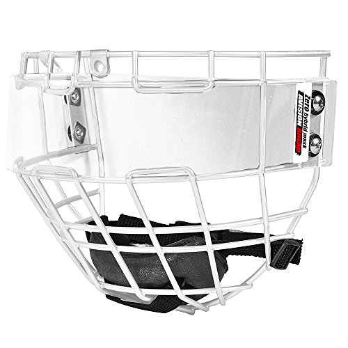 Avision Ahead Zero II Hockey Shield Anti-Fog Scratch-Resistant for Women and Youth (White)