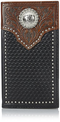Wallet Top Concho Black Basket Western tan Ariat Circle Black Rodeo Men's Scrol qWYWwIzv