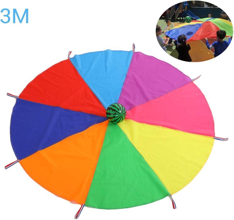 No Incluye Pelota Daxoon Swing Cloth Parachute Toy Parachute Toy Rainbow Parachute Toy para Actividades al Aire Libre