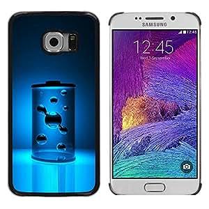 Be Good Phone Accessory // Dura Cáscara cubierta Protectora Caso Carcasa Funda de Protección para Samsung Galaxy S6 EDGE SM-G925 // Energy Power Blue Aqua Water