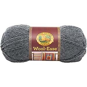Lion Brand Yarn 620-152 Wool-Ease Yarn, Oxford Grey