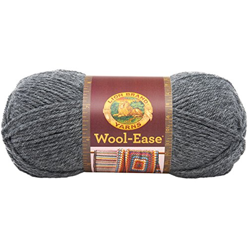 Lion Brand Yarn 620-152 Wool-Ease Yarn, Oxford Grey