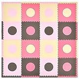 Tadpoles Playmat Set 16-Piece Circles, Pink/Brown
