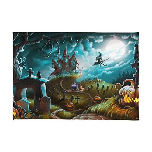 Printed House Halloween Holiday Square Tablecloth 54