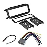 CAR RADIO STEREO CD PLAYER DASH INSTALL MOUNTING TRIM BEZEL PANEL KIT + HARNESS FOR DODGE CHRYSLER JEEP 2002 - 2007