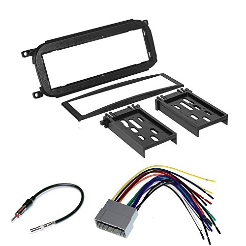 Stereo Dash Trim (CAR RADIO STEREO CD PLAYER DASH INSTALL MOUNTING TRIM BEZEL PANEL KIT + HARNESS FOR DODGE CHRYSLER JEEP 2002 - 2007)