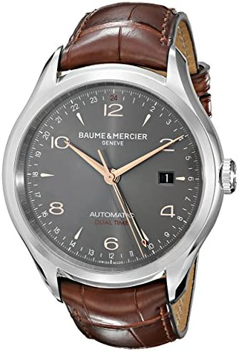 Baume Mercier Men s BMMOA10111 Clifton Analog Display Swiss Automatic Brown Watch
