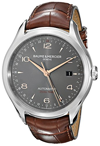 Baume & Mercier Men's BMMOA10111 Clifton Analog Display Swiss Automatic Brown Watch