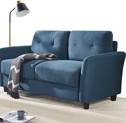 Best living room sofa: ZINUS Ricardo Loveseat Sofa / Tufted Cushions / Easy