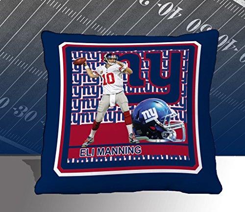NFL Biggshots Bedding - New York Giants Eli Manning Toss Pillow, 18-Inch