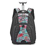 High Sierra Freewheel Wheeled Laptop Backpack, Tropical Stripe/Black