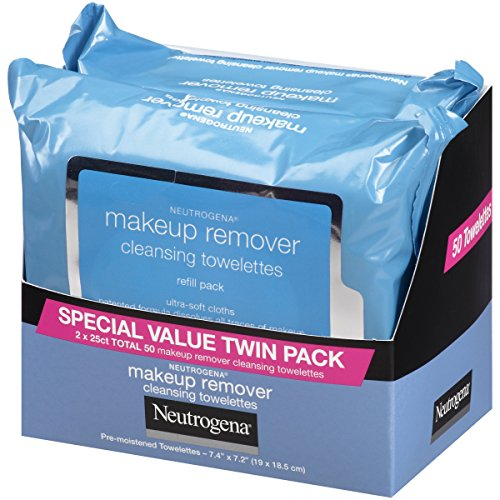 Neutrogena Makeup Removing Wipes, 25 Count, Twin Pack by Neutrogena (Image #1)