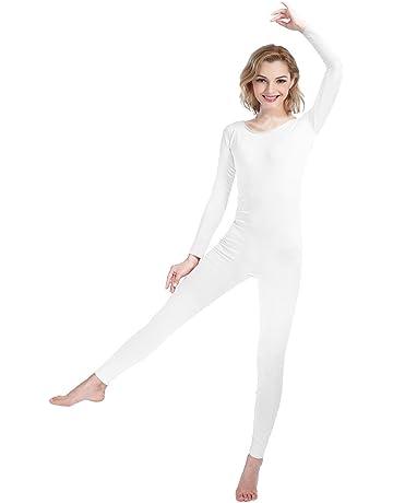 b4c36337c48 SHINNINGSTAR Girls Womens Well-fit Spandex Lycra Bodysuit Long Sleeve Scoop  Neckline Footless Unitard