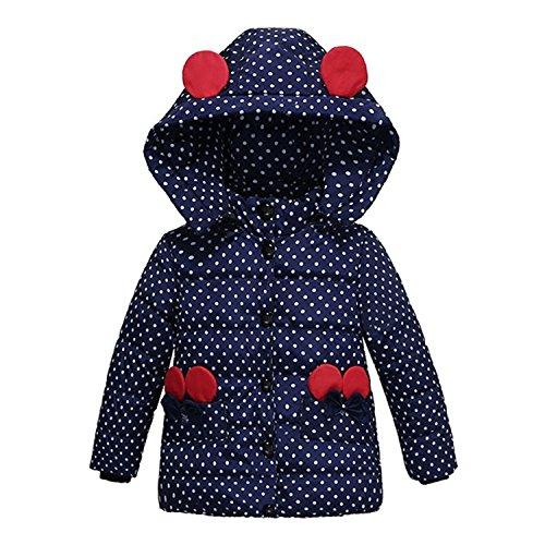 Newmarket Jacket (Jacket Girl Down Parka Children Jacket Outwear Boy Coats Long Sleeve Hooded Cotton Baby Kid Coat Snowsuit Dark Blue 5)
