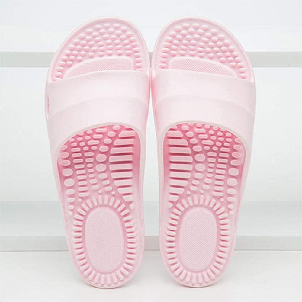Drain Quick Bathroom Mule, sandalias y zapatillas de masaje antideslizantes de verano, zapatos de masaje de pies para el cuidado de la salud en el interior del baño y acupuntura, Ice purple_37-38,