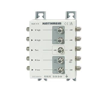 Kathrein EBX 2520 - Splitter de vídeo (F, 5 MHz, Gris, 112 x 148 x ...