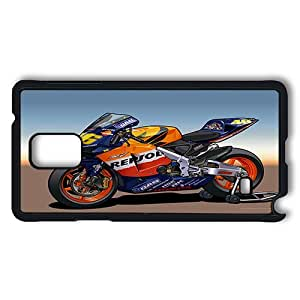 Samsung Galaxy Note 4 Case, Superbike Racing Art Wallpape PC Case Cover Protector for Samsung Galaxy Note 4 Hard Plastic Black