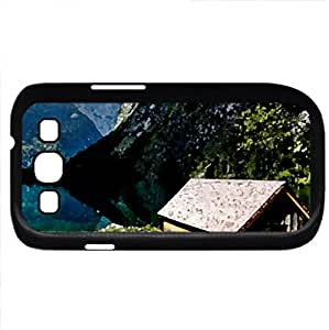 Lake Obersee (Lakes Series) Watercolor style - Case Cover For Samsung Galaxy S3 i9300 (Black)