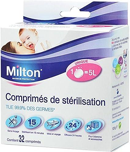 Milton de stérilisation Boîte De Comprimés 28 comprimés 112 G Biberons Lait mannequin Bottes