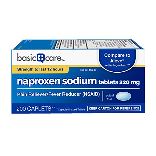 Basic Care Naproxen Sodium Tablets, 200 Count 51MiBYEbepL