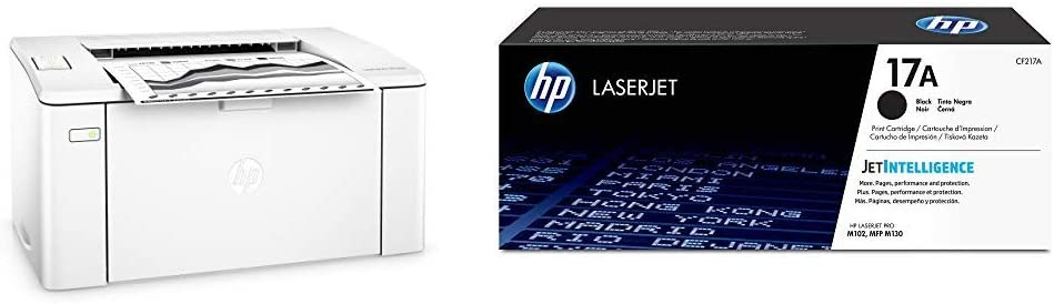 HP Laserjet Pro M102w Wireless Laser Printer (G3Q35A) with Standard Yield Black Toner Cartridge