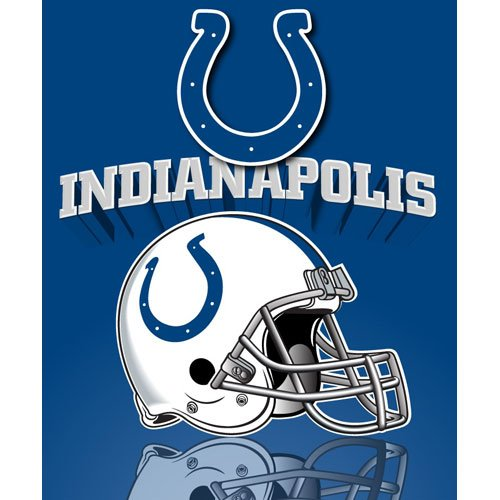 Northwest Indianapolis Colts Gridiron Fleece Throw - Indianapolis Colts One Size Indianapolis Colts Fleece Throw